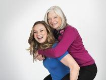 Rosie MacLennan and mom Jane