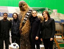 Princes on set of Star Wars VIII