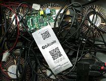 A bitcoin mining machine