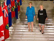Alberta Premier Rachel Notley and Ontario Premier Kathleen Wynne
