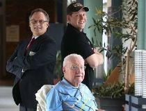Gib McElroy with Daniel Clain and Landon Brady