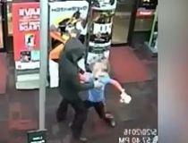 Boy fights robber