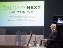 Ken King at CalgaryNEXT presentation at city hall