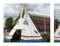 Stolen RCMP teepee