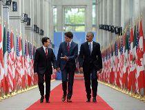 Justin Trudeau, Enrique Pena Nieto, Barack Obama
