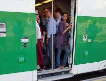 Crowded GO train