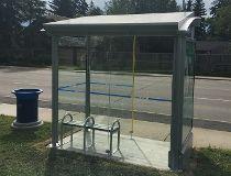 Solar bus shelter