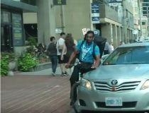 cabbie striking cyclist