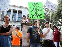 Guns On Campus Texas protest