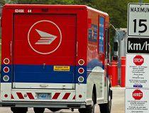 canada post trucks