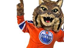 Oilers mascot Hunter Sept. 26/16