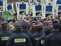 oil protest