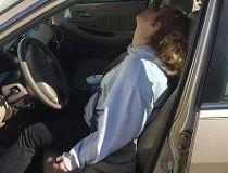 Erika Hurt passed out