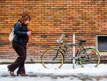 Sidewalk in winter
