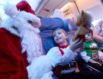 Childrens Wish Santa flight