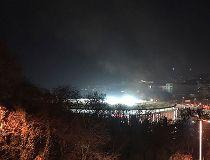 A view of Besiktas football club stadium after explosions