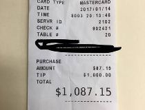 $1,000 tip