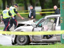 McPhillips and Redwood crash