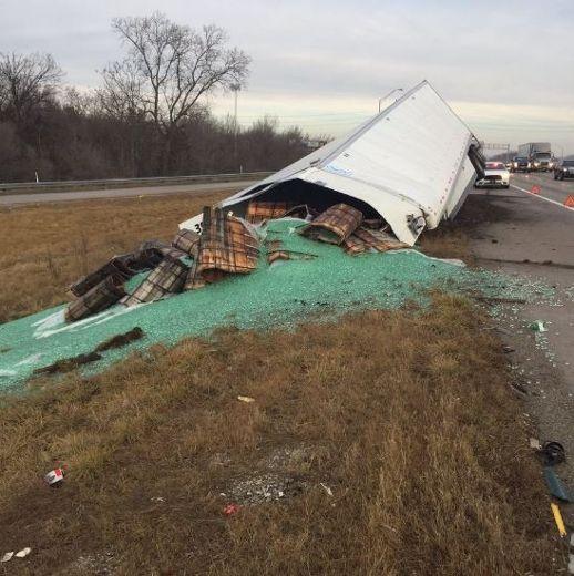 Trucker spills 38,000 pounds of marbles across highway