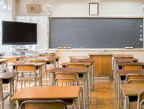 An empty school classroom