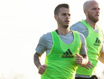 Sebastian Giovinco and Michael Bradley during preseason camp in Orlando this week. (Clayton Hansler, Toronto FC)