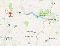Ashcroft, B.C., on a Google map