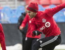 Sebastian Giovinco during Wednesday's training at BMO Field. (Craig Robertson, Toronto Sun)