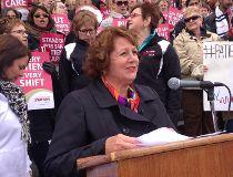 Manitoba Nurses Union president Sandi Mowat