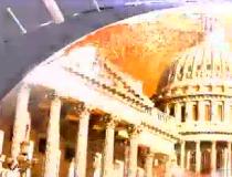 A screen grab from a North Korean propaganda video.
