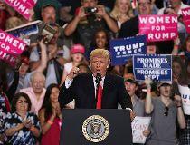 U.S. President Donald Trump at Pa. rally