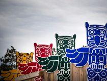 Totem poles at Mooney's Bay Park