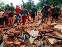 Sri Lankan mudslides
