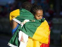 Women's winner Netsanet Gudeta