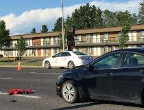 Pedestrian collision Gateway Boulevard