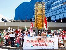 Anti-fascist rally at Calgary city hall