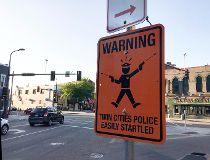 fake street sign