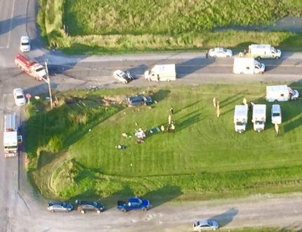 Seven injured in minivan-car collision in rural west Ottawa