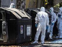 Italian police trash bin