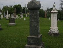 The gravestone of Maggie Clark