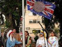 Mayor, Indigenous leaders raise Treaty 6 flag at City Hall