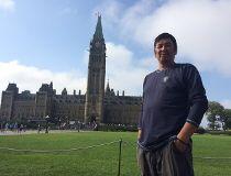 Long walk to Parliament