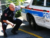 Police car rammed