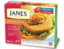 Janes Chicken Burgers