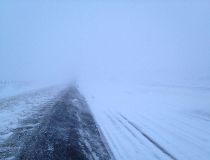 Winter highway scene
