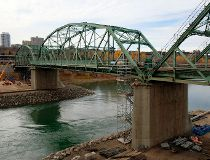 the old Walterdale Bridge